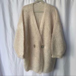 VINTAGE | Mohair sweater oversized cardigan
